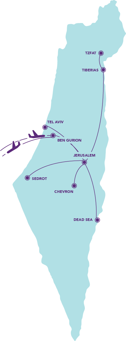 Travel Israel Map